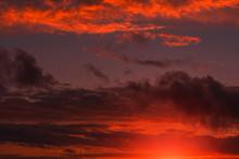 Fiery Orange Sunset  Colorful ...