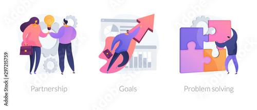 Fotografía  Successful business icons set
