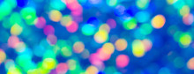 Holiday Colorful Bokeh Blue Lights Background