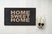 New Home Moving In Door Mat En...