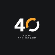 40 Year Anniversary Vector Tem...