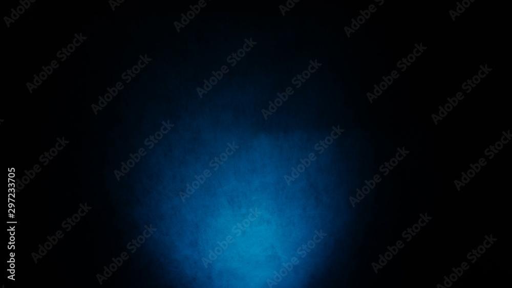 Fototapeta Dark, blurred, simple background, blue black abstract background gradient blur - obraz na płótnie