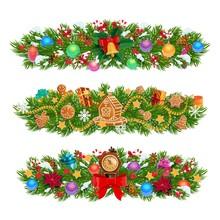 Christmas Garlands Of Xmas Tre...