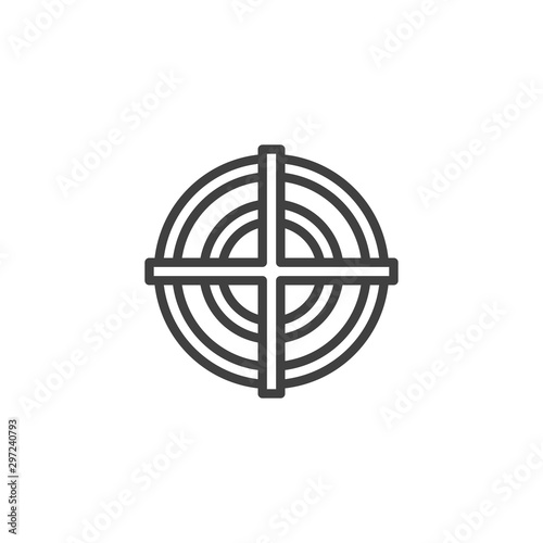 Fotomural  Target aim line icon