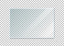Glass Windowisolated On White Background. Vector Illustration.