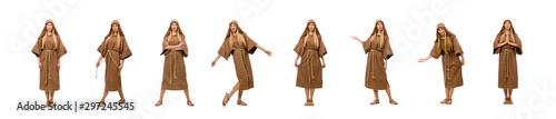 Carta da parati  Woman wearing medieval arab clothing on white
