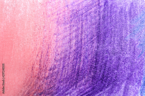 Valokuva Color pencil hatching as background, top view