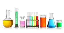 Laboratory Glassware With Colo...
