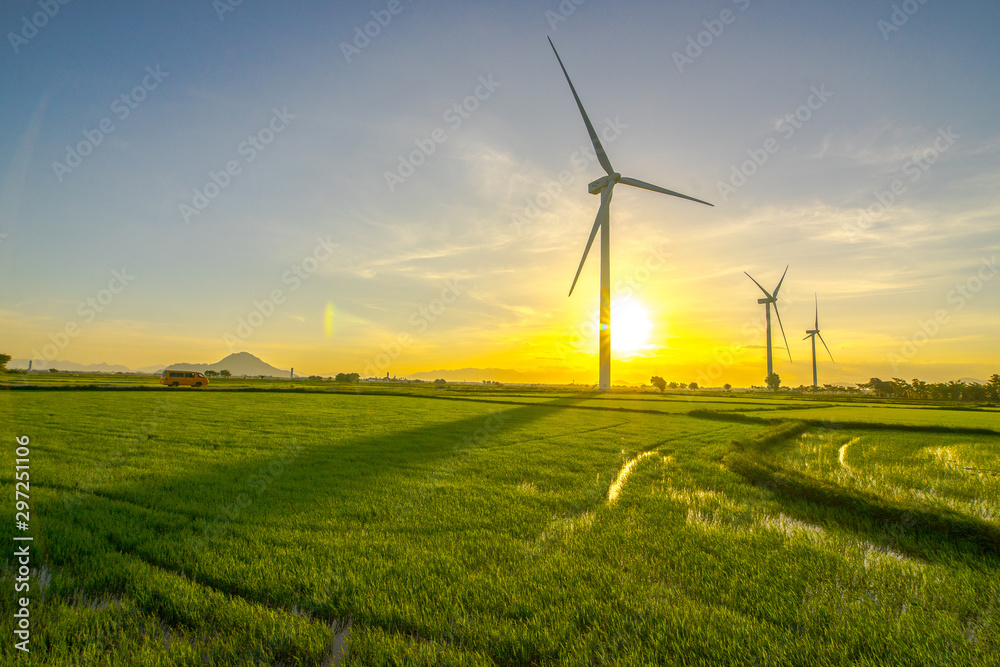 Fototapeta wind power in Binh thuan, vietnam