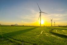 Wind Power In Binh Thuan, Vietnam