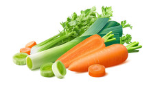 Fresh Leek, Celery And Carrot ...