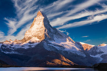 Materhorn Peak At Sunset In Ze...