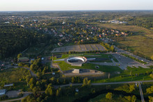 Top View Of The Museum And Exhibition Complex New Jerusalem. The City Of Istra. Moscow Region