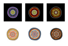 Set Of Aboriginal Art Vector I...