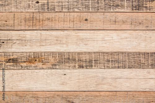 Fotografia, Obraz  Wood surface hardwood texture backdrop and background woodden board