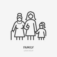 Family Line Icon, Vector Picto...