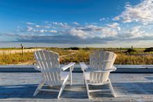 Beach Chair On Cape Cod Beach ...