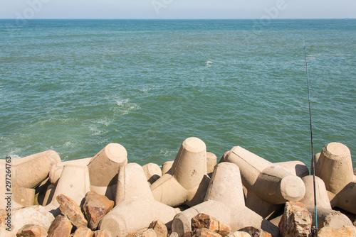 Shore of the Atlantic Ocean, Casablanca, Morocco