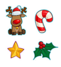 Christmas Cartoon Icon Set - R...