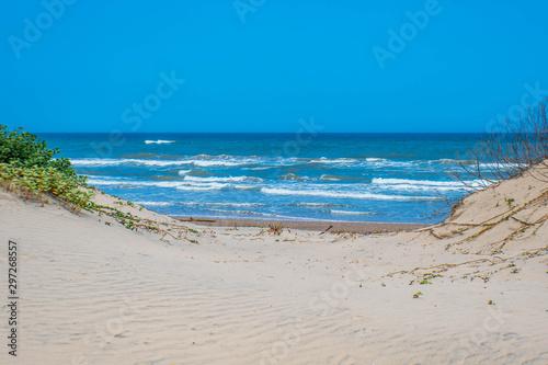 Fotografie, Obraz A beautiful soft and fine sandy beach along the gulf coast of South Padre Island