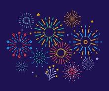 Colorful Fireworks. Festive Ch...