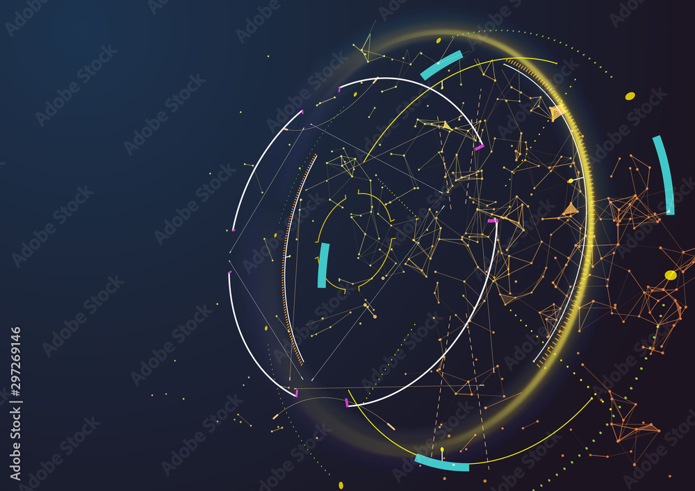 Fototapety, obrazy: Abstract techno background. Futuristic abstract high-tech design.