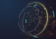 Abstract techno background. Futuristic abstract high-tech design.