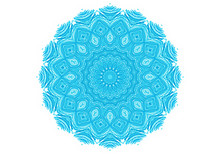 Abstract Turquoise Round Pattern