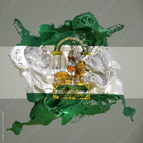 Andalucia flag liquid