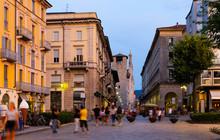 Street Of Italian City Of Como...