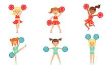 Cute Little Cheerleader Girls ...