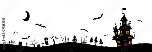 Fotomural  Halloween background material