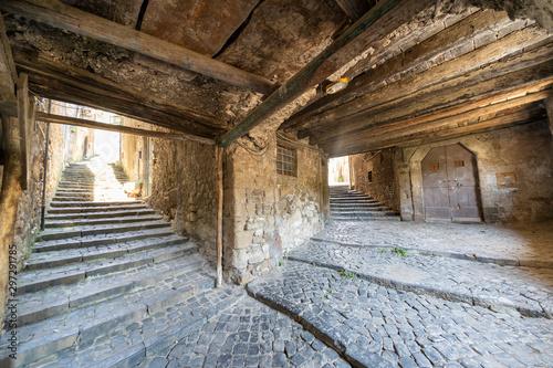 Canvas Cori, historic town in the Latina province