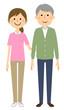高齢者と介護スタッフ