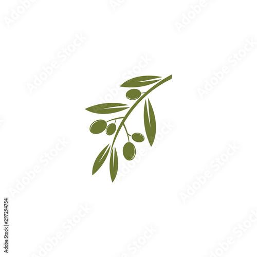 Olive logo template vector icon illustration Wallpaper Mural