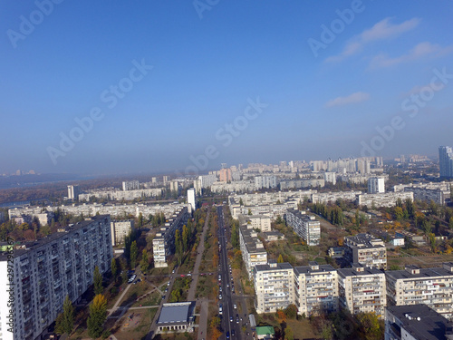 Aluminium Prints Paris Residential area of Kiev (drone image).Kiev, Ukraine