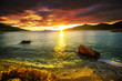 canvas print picture Sea sunset