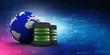 3d rendering Database storage data base