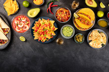 Mexican Food, Many Dishes Of T...