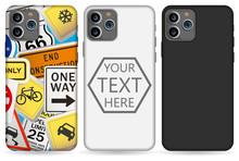 Phone Case Mockup Template Illustration (white/black).
