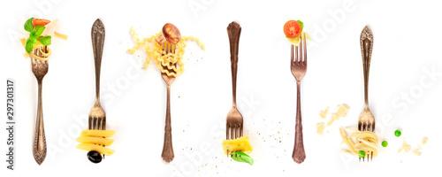 Fotografiet  Italian food collage