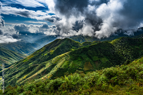 Photo sur Toile Les champs de riz Mu Cang Chai, landscape terraced rice field near Sapa, northern Vietnam