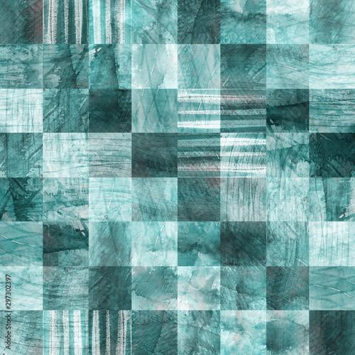 Tapety Turkusowe squares-seamless-pattern