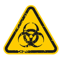Grunge Danger Biohazard Sign I...