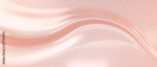 Fotografía  Liquid subtle pink background, cosmetic cream texture, fluid gentle surface
