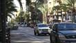City Street Traffic Jem in Sunny Day, Alicante Spain