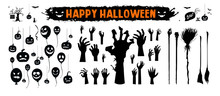 Halloween Silhouettes Black Ic...