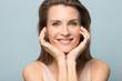 Leinwanddruck Bild - Portrait of smiling millennial woman with healthy skin