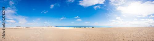 Panorama of the sandy beach on the Canary Islands Fototapeta