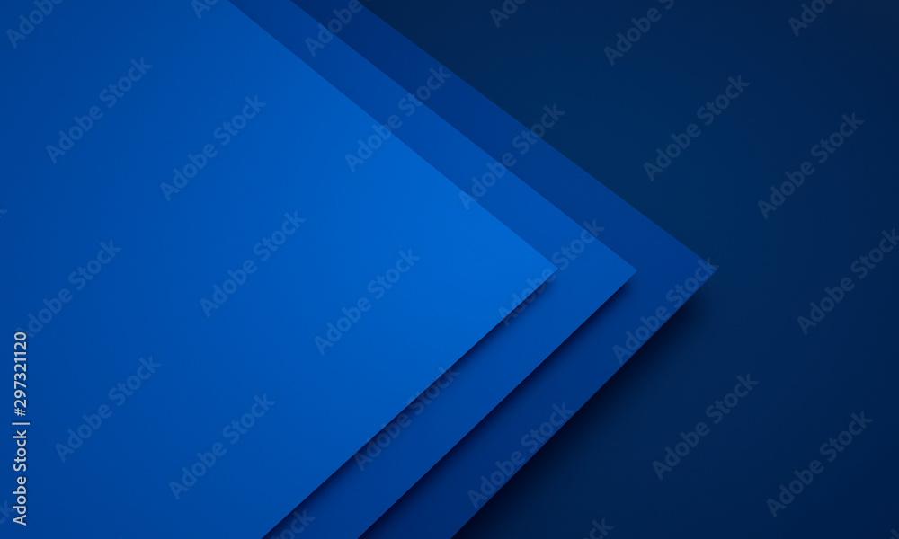 Fototapety, obrazy: Mockup of blue cards - 3D illustration